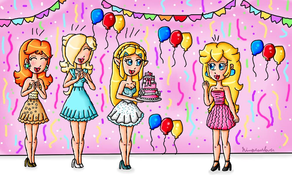Peach's Birthday by ninpeachlover