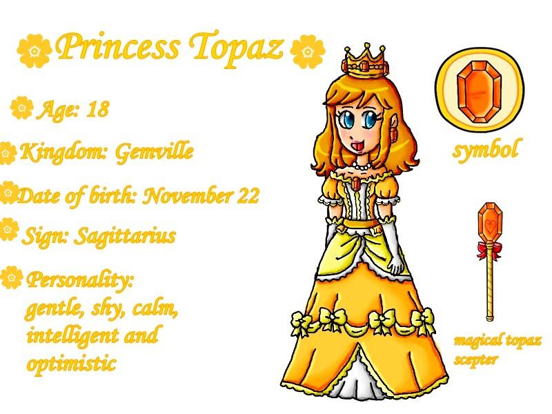 Meet Princess Topaz by ninpeachlover