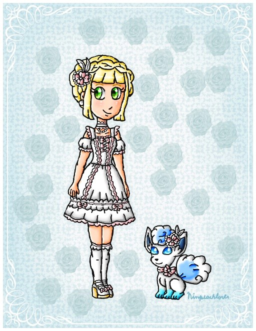 Elegant trainer and pokemon by ninpeachlover