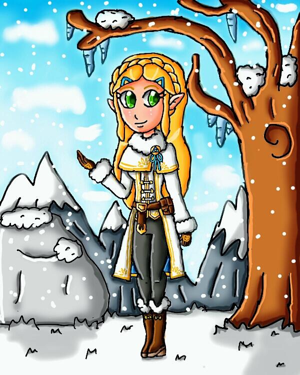 Winter Zelda by ninpeachlover