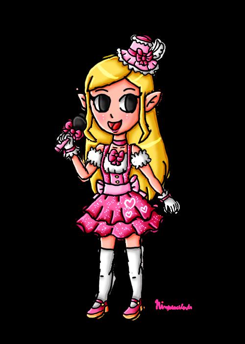 N-Pop Idol Collab-Toon Zelda by ninpeachlover