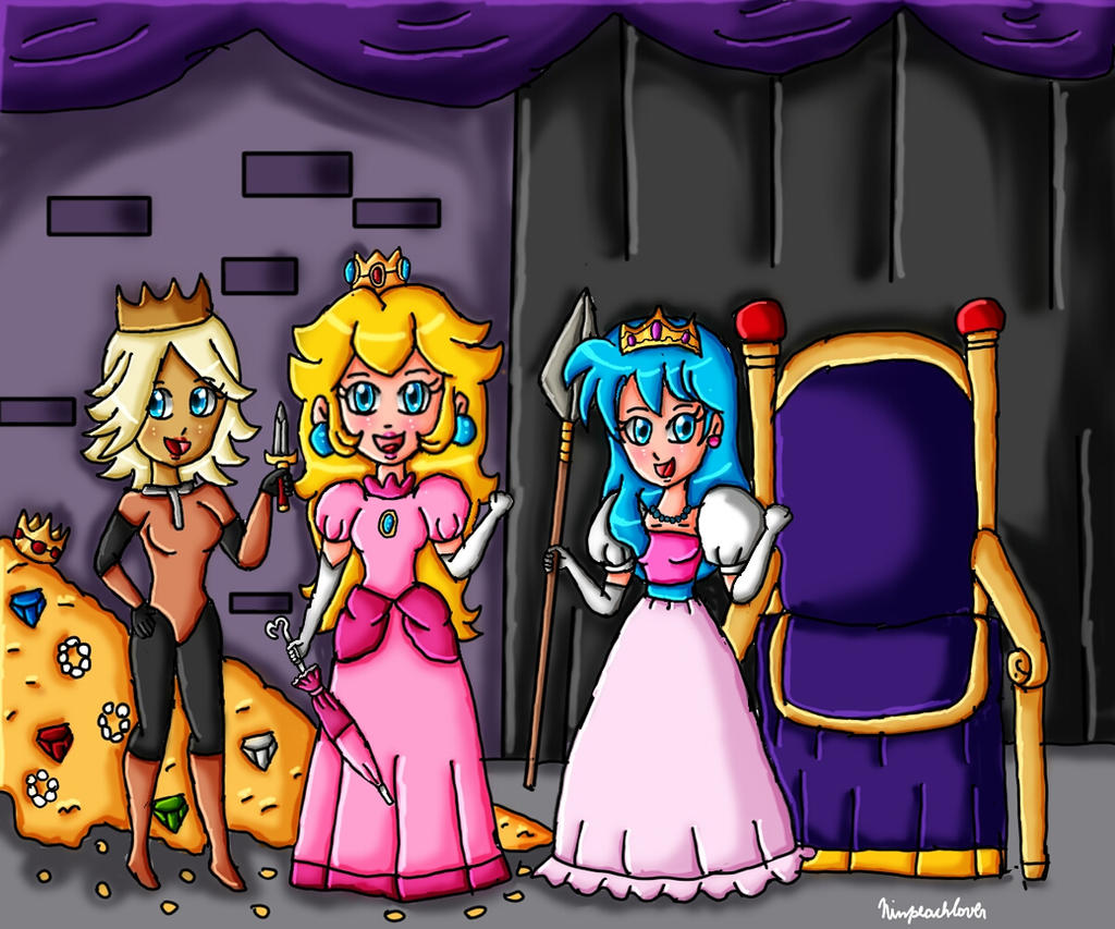 Princesses and treasures by ninpeachlover