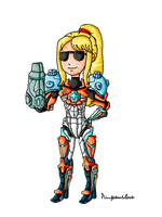 Cool PED suit Samus by ninpeachlover