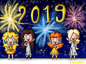 Happy New Year 2019 by ninpeachlover