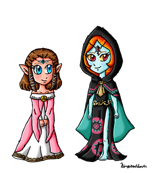 Child Zelda and Midna