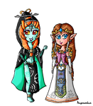 Just Zelda and Midna by ninpeachlover