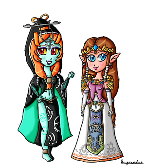 Just Zelda and Midna