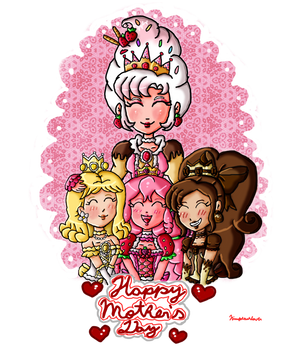 The sweet queen and their daughters