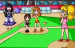 Baseball game girls