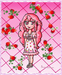 Berry strawberry dress