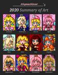 Ninpeachlover's 2020 Art Summary by ninpeachlover