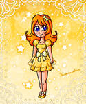 Mona golden dress