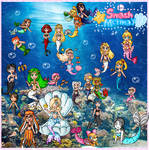 Smash mermay completed mural by ninpeachlover