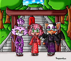 Yukata Amy, Rouge and Blaze