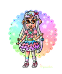 Rainbow Inkling  by ninpeachlover
