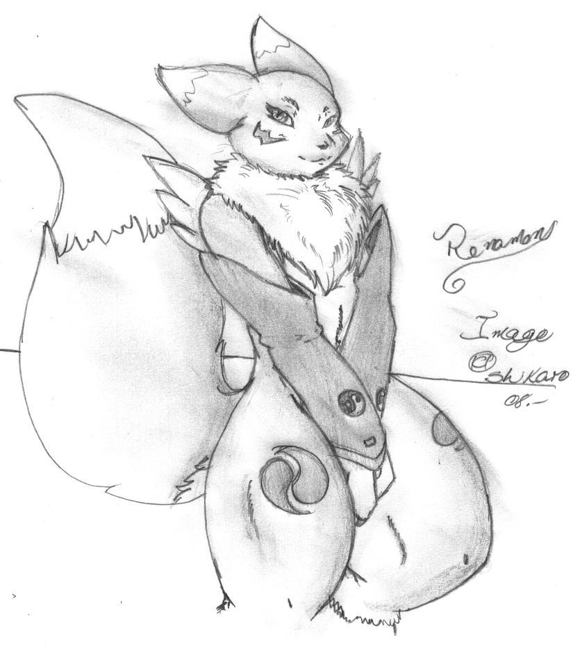 renamon sketch by ShikkaTL