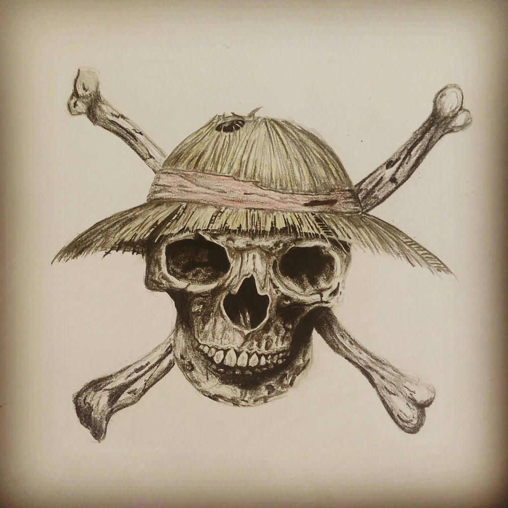 strawhat pirates flag realistic by resis13 on deviantart