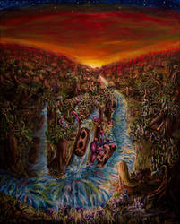 Log Flume Dreams by PaintingsByFrancois