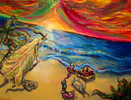Beach of Imagination by PaintingsByFrancois