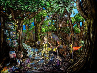 The Jungle of Living Dreams by PaintingsByFrancois