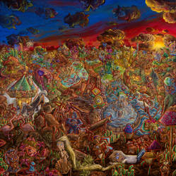 A Garden of Vivid Visions by PaintingsByFrancois