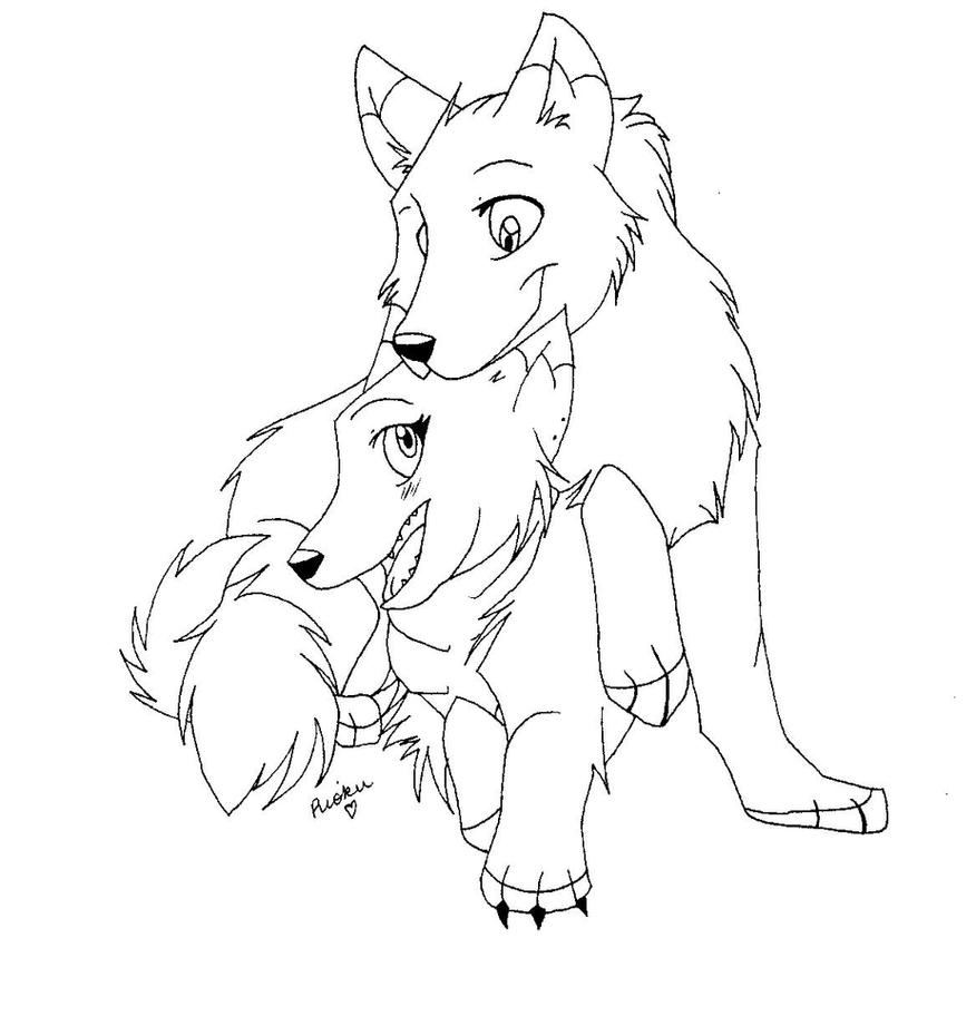 Wolf Couple by RiokuKarasu on DeviantArt