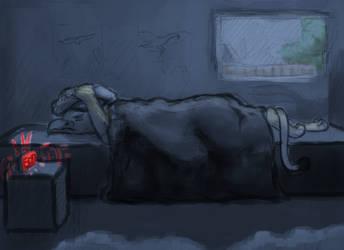 Sleepy Pierre by raaky-draws