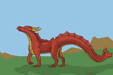 Dragon Walk by raaky-draws