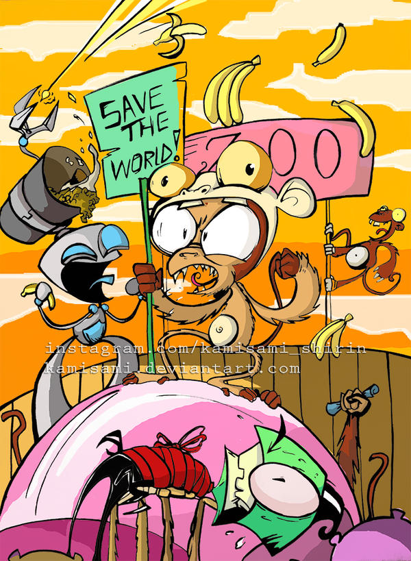 invader zim my cover by kamisami