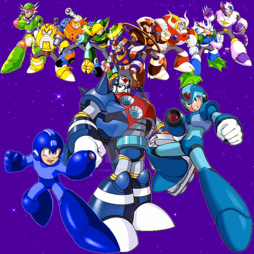 Mega Man Upon The Stars by AnimeCitizen
