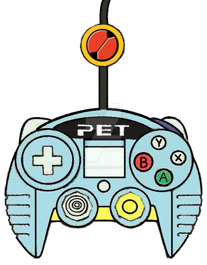 MegaMan PET GameCube Controller by AnimeCitizen