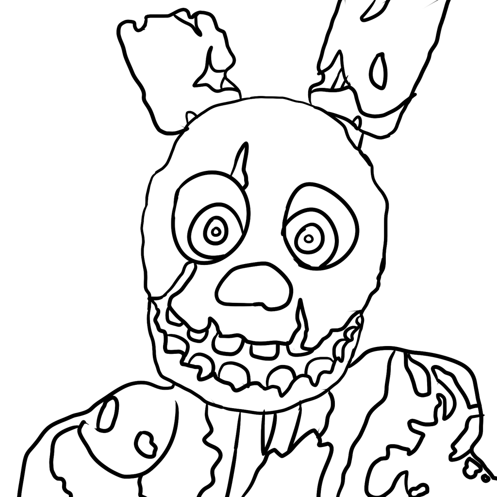 trap fnaf free colouring pages