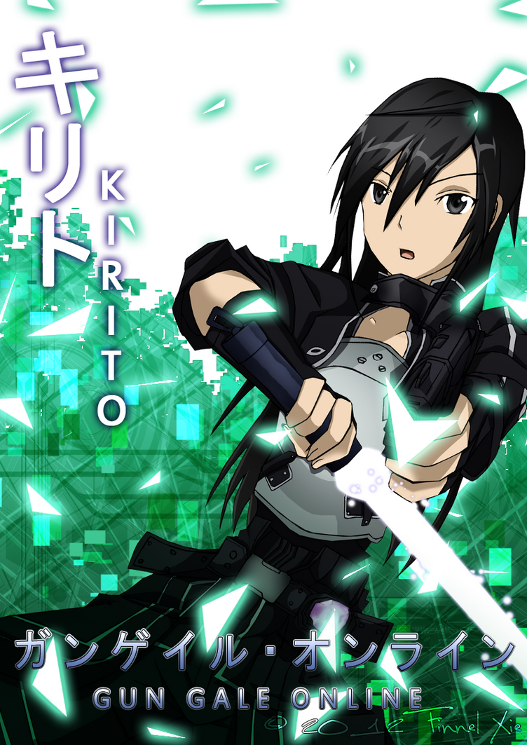 Gun Gale Online - Kirito by finnel-harvestasya