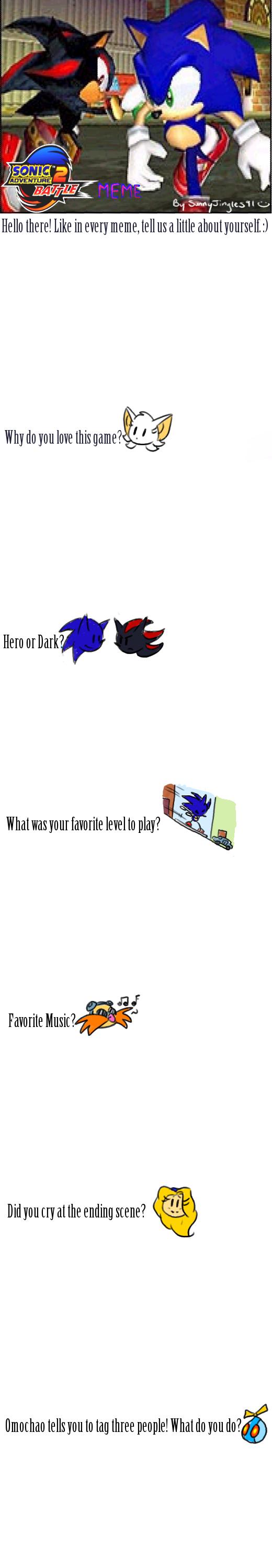 Sonic Adventure 2 Meme by Chicaaaaa