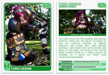 ChriX Design: Cosplay (1) by Artograph-Card