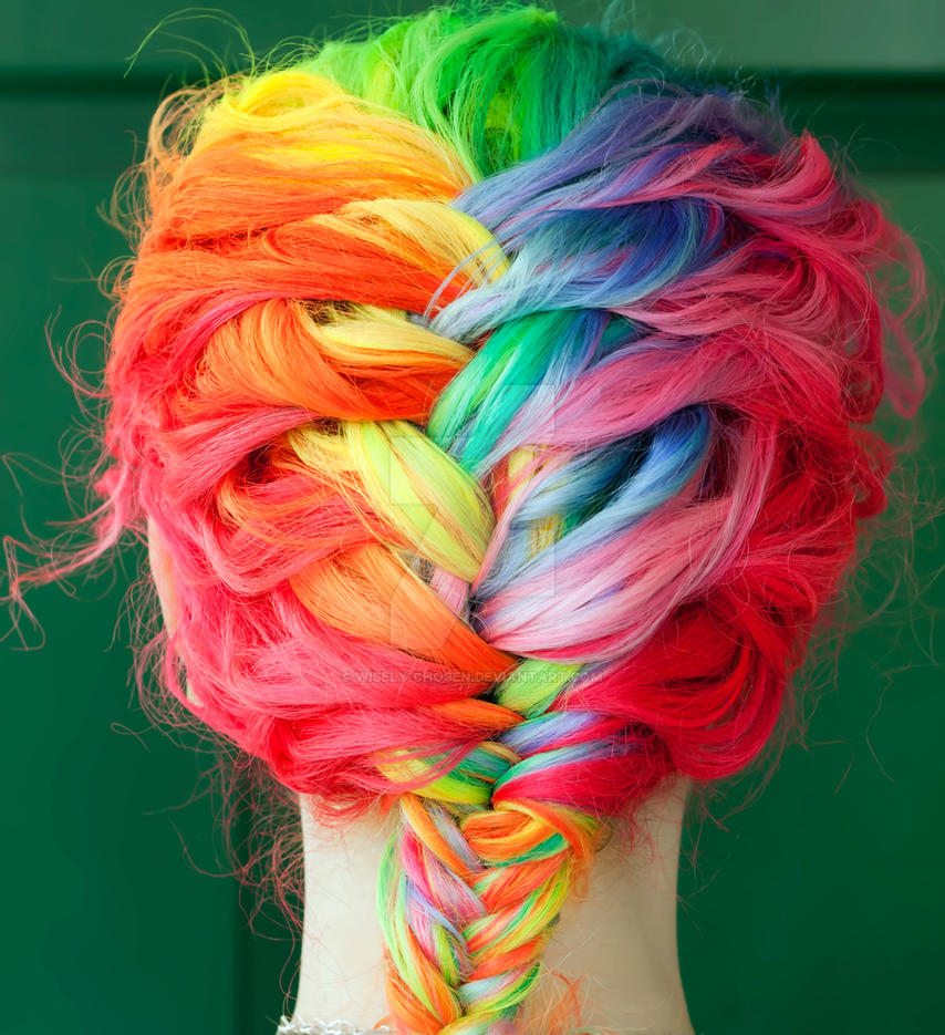 Rainbow French Braid by wisely-chosen
