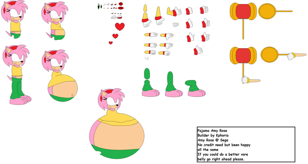 Sonic Vore Amy Rose: Pajama Amy Rose Character Builder By Pokemon2006 On DeviantArt