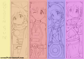 +GS bookmark sketch set 1+ by Seena58