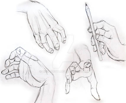 Pencil Drawing Hands