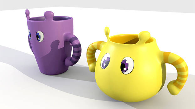 Boo and Arzy Mugs
