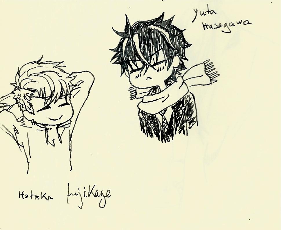 yuta x hotaka chibi doodle by luxray-meoth