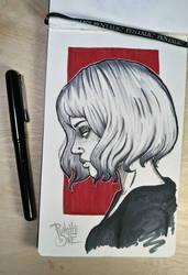 Inktober Dead Doll Drawing