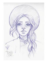 Purple Sketch Girl