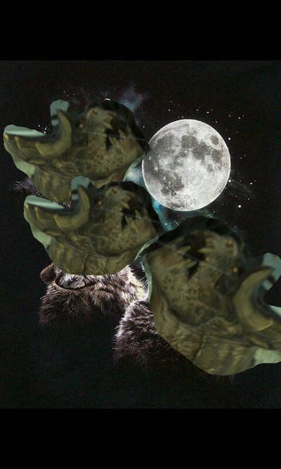 Three Deathclaws and the freakin' Moon by ChristineBeanTeen