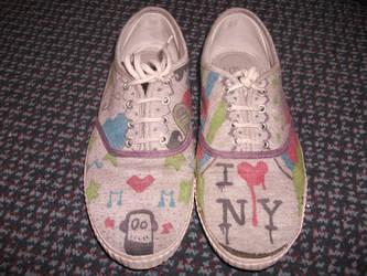 Customised shoes - Who am I? by sena-sena