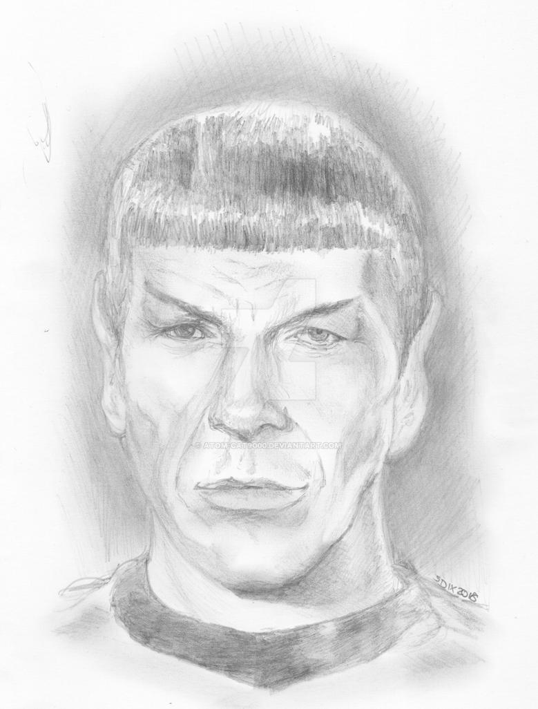 Spock pencil sketch by atom cat9000