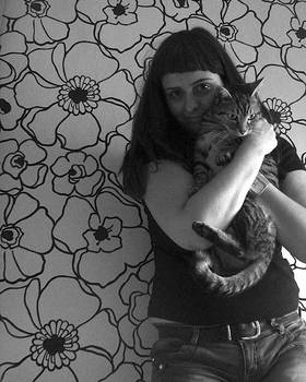 :: me and my cat ::