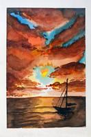 Sanfte Abende am Meer by Erdbeersternchen
