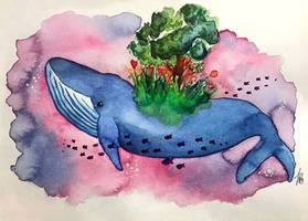 A whale's dream by Erdbeersternchen