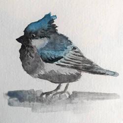 Blue bird in my heart. by Erdbeersternchen